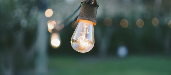 Light bulbs at dawn