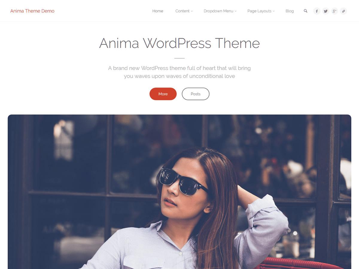 Anima Plus Theme Demo